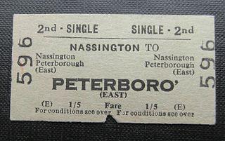 Nassington railway station Former railway station in Northamptonshire, England