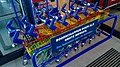 Rainbow shopping carts for children at the ALDI, Winschoten (2019).jpg