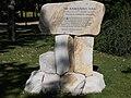 Rakovszky memorial stone. Close to the 'Centenáriumi emlékmű' ship station. - Margaret Island, Budapest, Hungary.JPG