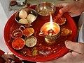 Rakshabandhan Poojan Thali 01.jpg