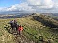 Ramblers on the Mam Tor Ridge (geograph 3855226).jpg