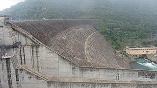 Randenigala Dam dam in Sri Lanka