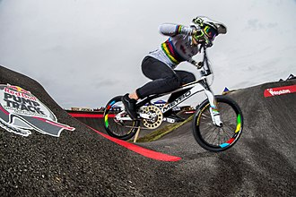 Pump track - Participant at the world final in Springdale, USA.