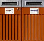 Red postal boxes, Christchurch, New Zealand 02.jpg