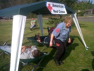 Disaster Social Work - Volunteers attend a community emergency drill in Marquette, MI.