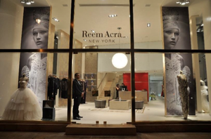 Reem Acra - A photograph through the front window of Reem Acra's Beirut boutique.