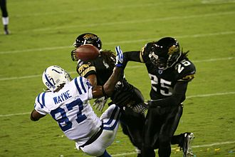 2007 Indianapolis Colts season - Jacksonville's Reggie Nelson hits Reggie Wayne, October 22, 2007
