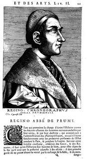 Regino of Prüm Benedictine monk, chronicler and music theorist