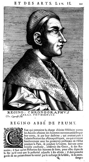 Regino of Prüm - Regino of Prüm, Carnegie Library of Reims.