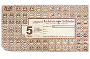 Ration stamp for a person in holiday/vacation during World War II (3-day-stamp)