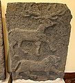 Relief orthostat showing a deer and a lion. From Sam'al citadel. 9th century BC. Museum of the Ancient Orient, Istanbul.jpg