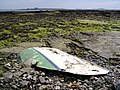 Remains of wrecked boat, near Derbyhaven - geograph.org.uk - 165578.jpg