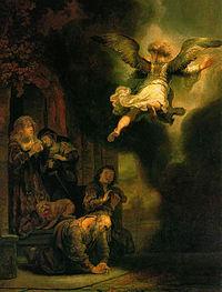 Rembrandt De aartsengel verlaat Tobias en zijn gezin. 1637.jpg