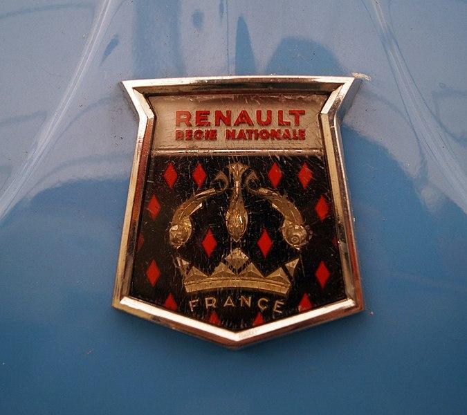 4 roues sans moteurs 675px-Renault_Dauphine_%28logo%29_-_Muzeum_w_Nieborowie