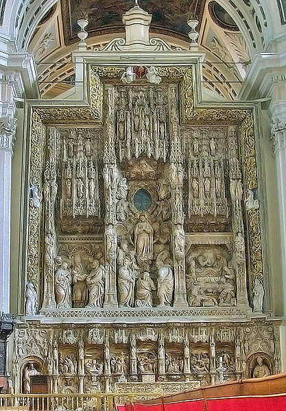 Altar of The Basilica of Our Lady of the Pillar in Zaragoza