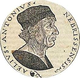 Retrato de Antonio de Nebrija (fondo blanco)