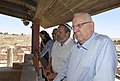 Reuven Rivlin in a visit in Susya archaeological site (7853).jpg