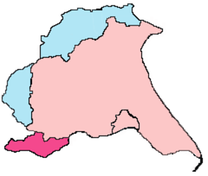 History of the East Riding of Yorkshire - Image: Revised Boundaries of East Yorkshire