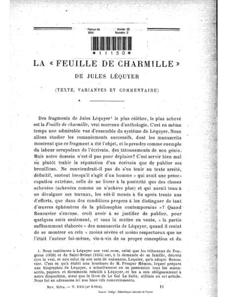 File:Revue de métaphysique et de morale, numéro 2, 1914.djvu