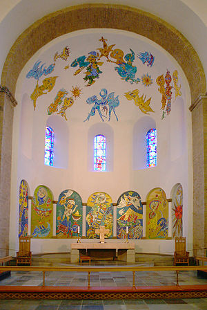 Carl-Henning Pedersen - The apse in Ribe Cathedral (Denmark) decorated by Carl-Henning Pedersen