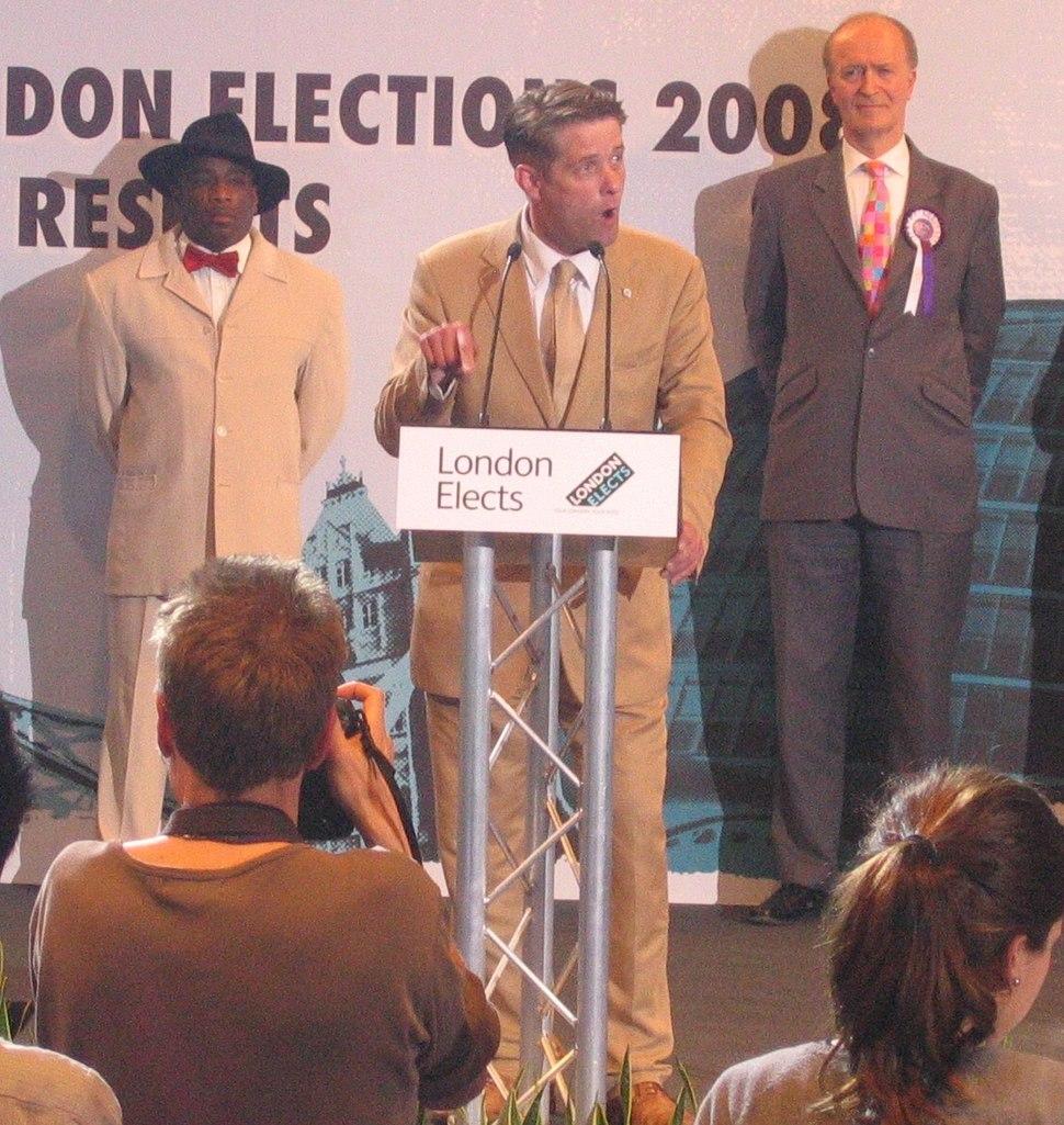 Richard Barnbrook BNP at mayoral election2