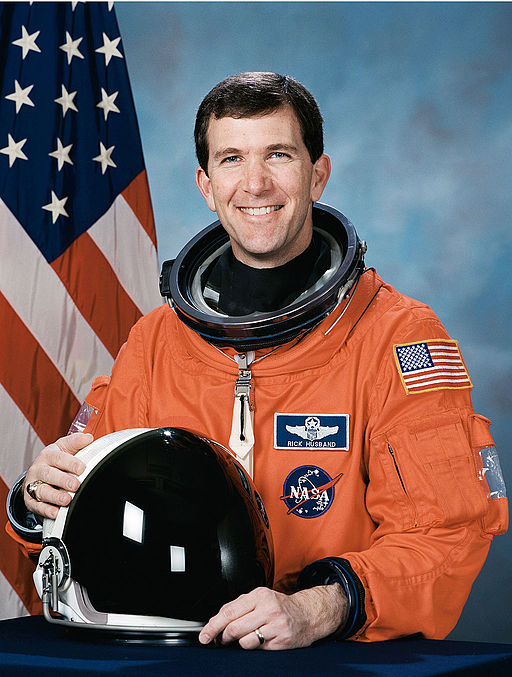 Richard Husband, NASA photo portrait in orange suit