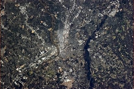 The Richmond area, seen from the International Space Station in early-April 2013. RichmondVAFromTheISS.jpg