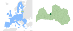 Location of Riga
