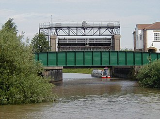 River Idle - The road bridge and sluice gate at the junction with the River Trent