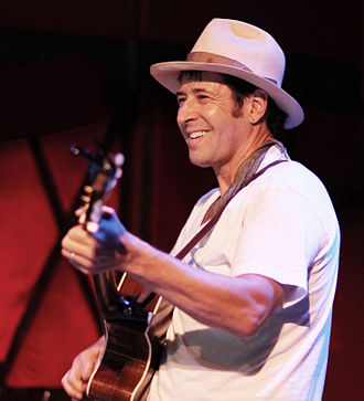 Rob Morrow - Morrow playing at Rockwood Music Hall in July 2014