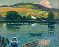 Robert Antoine Pinchon, 1909-10, Les coteaux de Belbeuf (Barques), oil on canvas, 65.5 x 81 cm.jpg