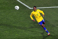 Robinho at Brazil & Chile match at World Cup 2010-06-28.jpg