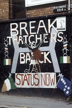 Premiership of Margaret Thatcher - Anti-Thatcher graffiti in Belfast, 1984