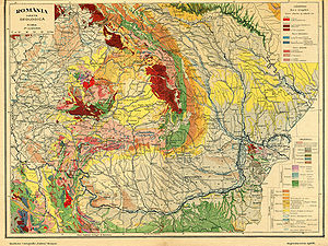Geography of Romania - Geology of Romania and neighbours