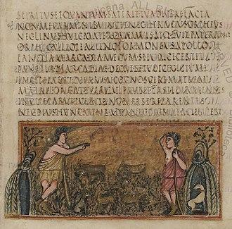 Vergilius Romanus - Image: Roman Virgil Folio 011r