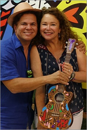 Gail Edwards - Romero Britto and Gail Edwards