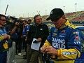 Ron Hornaday Jr and Matt Yocum at Auto Club Speedway, 2009.jpg