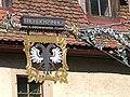 Rothenburg - Klingengasse 11 - Schwarzer Adler Hauszeichen.jpg