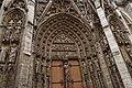 Rouen - Rue du Change - View on South Façade of la Cathédrale Notre-Dame de Rouen I.jpg