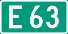 European Route E63 shield}}