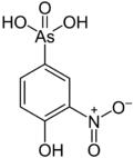 Skeletal formula of roxarsone