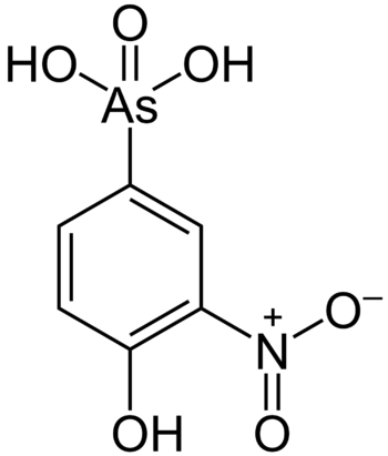 Roxarsone is a controversial arsenic compound used as a nutritional supplement for chickens.