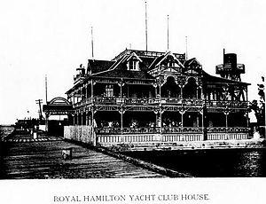 Royal Hamilton Yacht Club - Royal Hamilton Yacht Club House c 1894