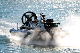 Her Majesty's Naval Service - Image: Royal Marine LCAC(LR) Hovercraft MOD 45154442