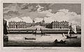 Royal Naval Hospital, Greenwich, with ships and rowing boats Wellcome V0013274.jpg