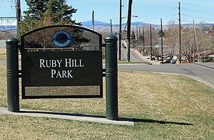 Ruby Hill, Denver - Ruby Hill Park and West Florida Ave. in Ruby Hill.