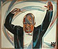 Rudolf Heinisch, Paul Hindemith dirigiert, ca. 1950.jpg