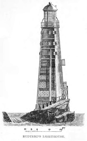 Eddystone Lighthouse - Elevation of Rudyard's lighthouse finished in 1709