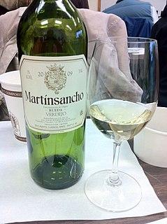 Verdejo variety of wine grape