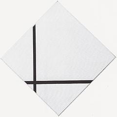 Composition de losange avec deux lignes